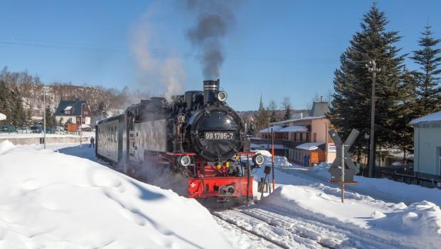 Fichtelbergbahn vor der Pension